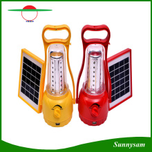 Einstellbare Helligkeit Outdoor Solar Hand Lampe / Portable 35 LEDs Solar Camping Laterne
