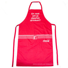 delantal de cocina de cocina ajustable rojo