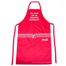 cozinha ajustável vermelha que cozinha o avental