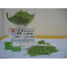 couleur de peinture en verre pour le pigment vert en céramique
