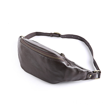 Cintura de couro esporte Fanny Pack Cross-Body Shoulder Bag