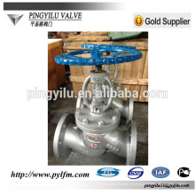 flange with carbon steel globe valve manufacture in china