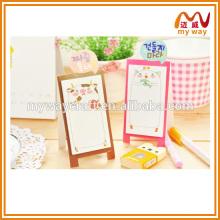 Artigos de papelaria por atacado de mini nota de bloco de esboço, conjunto de papelaria personalizado mini