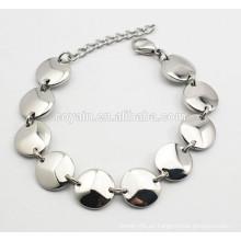 Bulk al por mayor 316L acero inoxidable cadena de enlace conectado pulsera para las mujeres