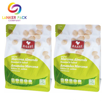 Ziplock Bottom Plastic Bags for Dry Food Pack