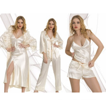 Sexy Bridal Satin Nightdress Set