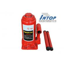High leveling bottle jack type red 12 ton