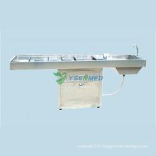 Table de nettoyage du corps de la salle de mortuaire de l'hôpital médical