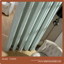 Las cortinas más nuevas del cuarto de baño del diseño Cortina flexible del apagón jacquard barato