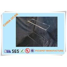 Folha de PVC rígida transparente para caixa de presente