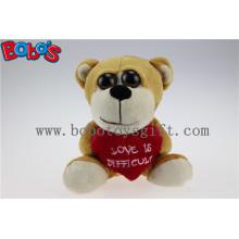 Valentine Presentes Big Eyes Toy Series urso de pelúcia com travesseiro de coração