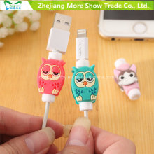Cartoon USB Cable Carregador de arame Protector Saver para fone de ouvido e carregador USB Cabo de cabo