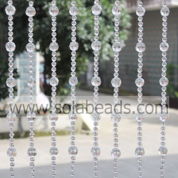 Xmas 22MM & 12MM filo plastica cristallo perline Garland Trim