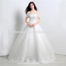 Conception simple hors épaule sexy robe de mariée chinoise