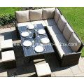 Neue Design Freizeit Rattan Tisch Einstellung Outdoor Möbel