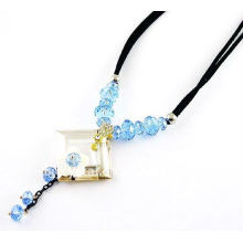 Fashionable design crystal necklace,fancy necklace design