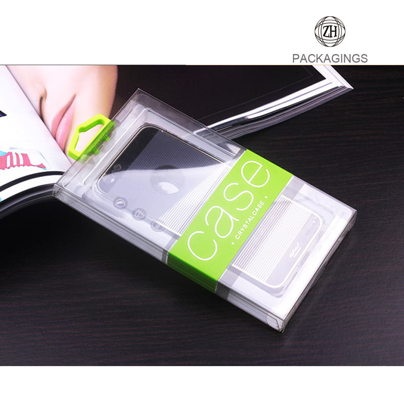 Clear custom plastic cell phone case box