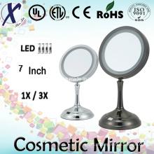 Espelho de vaidade iluminado tabela cosmética de face única de 7′′