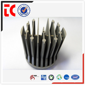 sandblasted sliver custom made heatsink casting