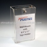 Wall Mount Clear Acrylic Ballot Box/ Donation Box/ Suggestion Box