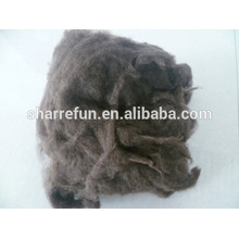 China manufacturer dehaired yak wool dark brown 19.0mic 26mm