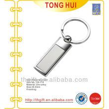 Blank Semi-pillar shape pendant keychains metal