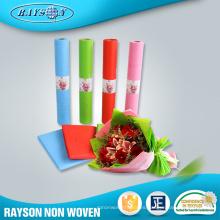 Ramos de flores frescas no tejidas Materiales de embalaje Papel