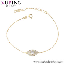 72041 xuping simple design bracelet in China wholesale with 14k gold plated