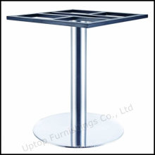 Round Tube Brush Stainless Steel Table Base (SP-STL258)