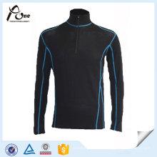 Polyester Nylon Stehkragen Laufbekleidung mit halben Reißverschluss