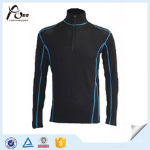 Polyester Nylon Stand Collar Running Wear with Half Zipper