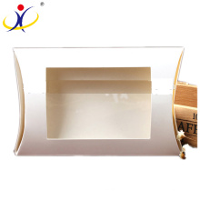 Customized Size Recycled Cardboard Pillow Shape Paper Box with Window Wholesale