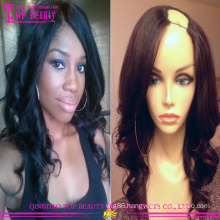 Aliexpress wholesale brazilian virgin hair u part wig hot sale human hair u part wig new fashion u part wig