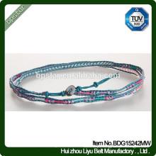 Moda Girls Mixed Crystone Skinny Beaded Lucky Beads Bracelet / Mulher Magro
