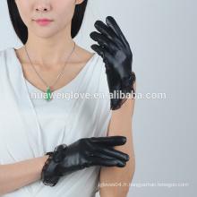 Gants de cuir en gros à la mode pour femme