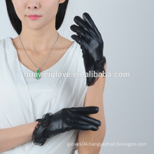 fashion wholesale cheap leather gloves for woman