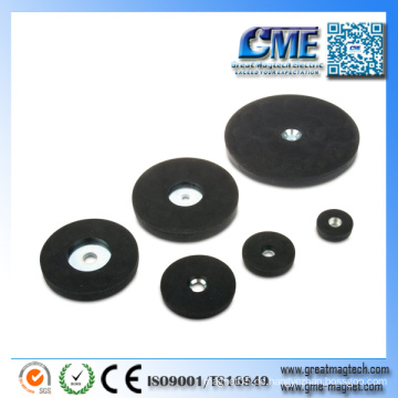 Gummierter überzogener Gummiüberzogener Magnet