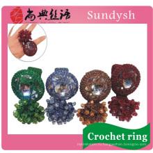 мода оптовая продажа кристалл имитация ногтя большого пальца коренастый высокое качество ручной искусственного кольца ювелирные изделия конструкции для женщин