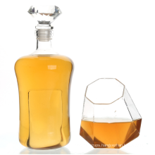 Decanter & Whisky Glasses  Whiskey Decanter with