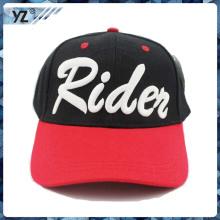 Alta calidad que pone en contraste la gorra de béisbol del color con el bordado 3d