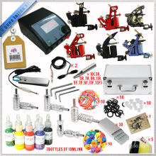top quality tattoo kit with 6 guns, all accessories inside the kit, complete tattoo kit