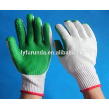 Baumwolle gestrickte Arbeitshandschuhe mit Gummi-Handfläche beschichtet