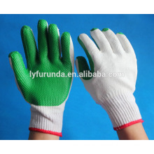 cotton knitted working gloves coated with rubber palm