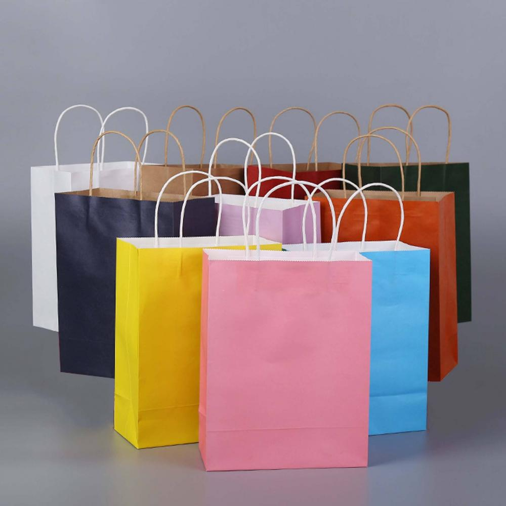 Colorful Kraft Paper Bags