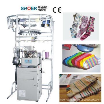Artículo de usar y completo computarizado calcetines máquina para hacer punto