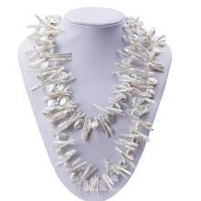 120cm Lomg Baroque et Biwa Perles Collier de perles modernes
