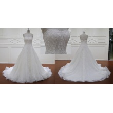 Brush Train Lace Wedding Dresses Bridal Dress