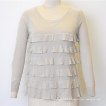 New Wavy Pure Color Women Knit Sweater