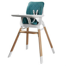 Plastic High Chair With Wooden Feets For Babies