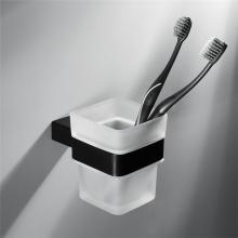 Accesorios de baño Soporte de cepillo de dientes negro de acero inoxidable